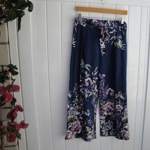 Gypsies & Moondust Navy Printed Pants L